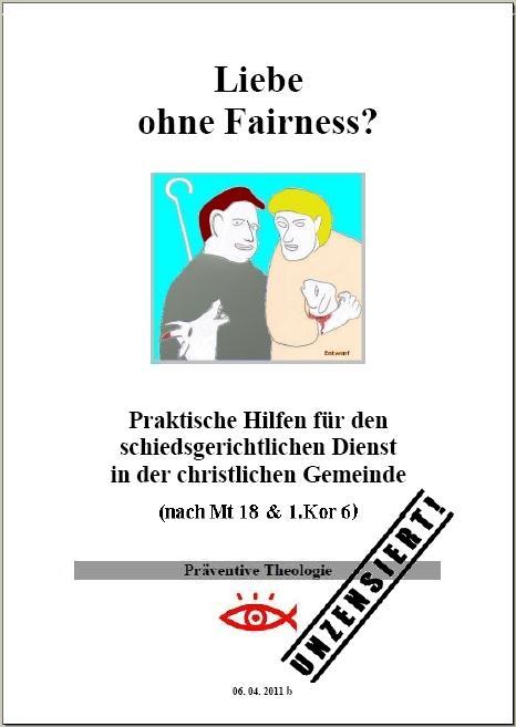 Liebe ohne Fairness Titelseite mit Rand