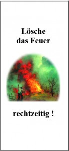 Flyer Lösche das Feuer titelbild
