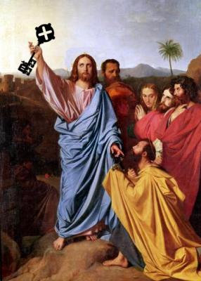 Jesus & Peter mit key2323