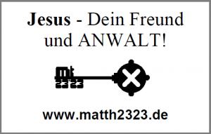 Jesus - dein Freund und ANWALT-